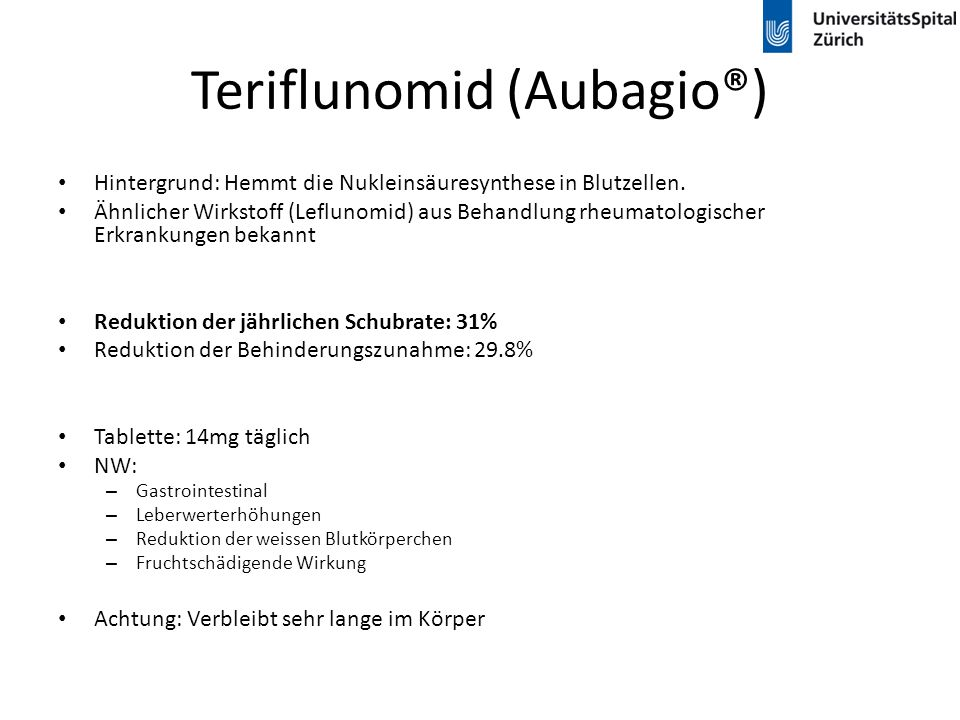 Teriflunomid (Aubagio®)