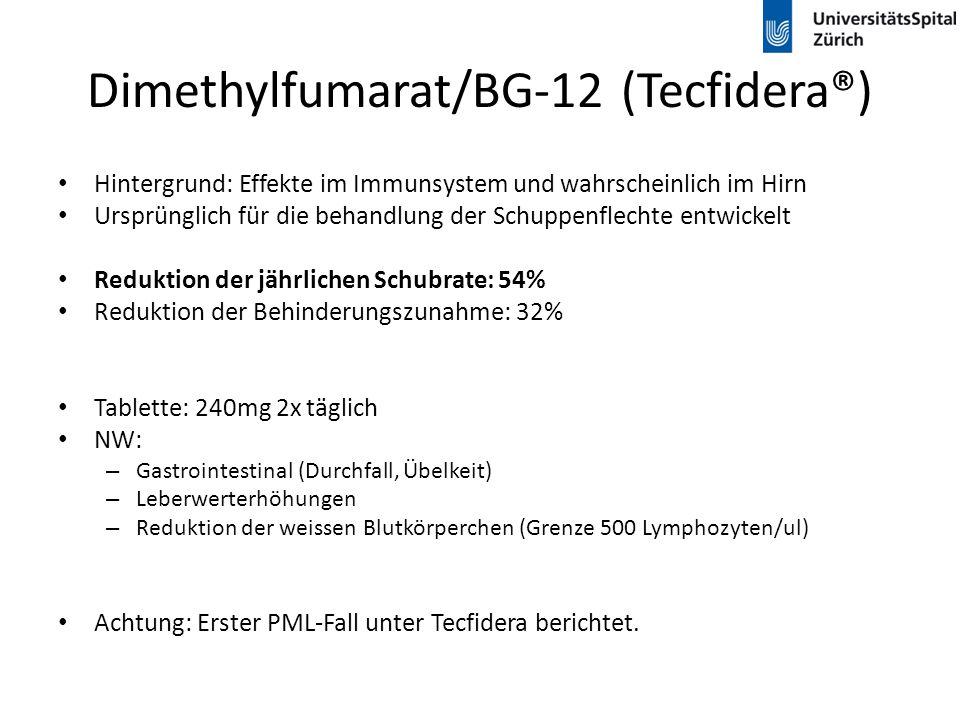 Dimethylfumarat/BG-12 (Tecfidera®)