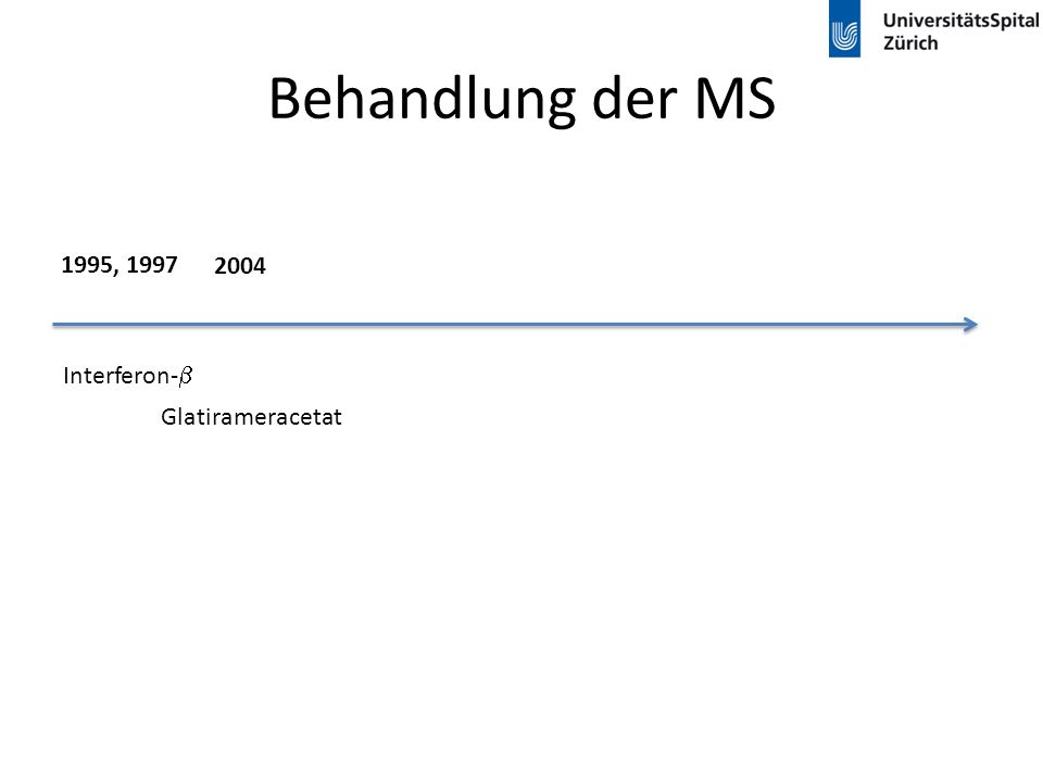 Behandlung der MS 1995, 1997 2004 Interferon-b Glatirameracetat