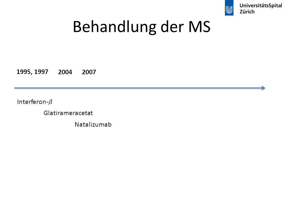 Behandlung der MS 1995, 1997 2004 2007 Interferon-b Glatirameracetat