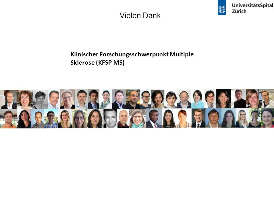 Vielen Dank Klinischer Forschungsschwerpunkt Multiple Sklerose (KFSP MS)