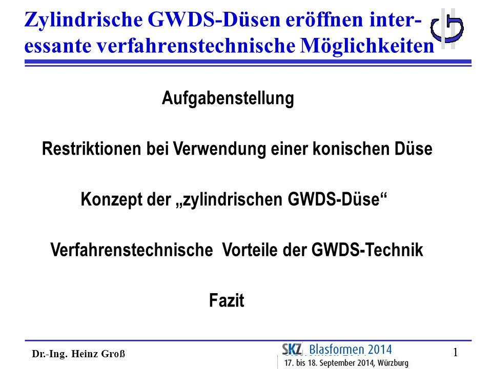 Zylindrische GWDS-Düsen eröffnen inter-
