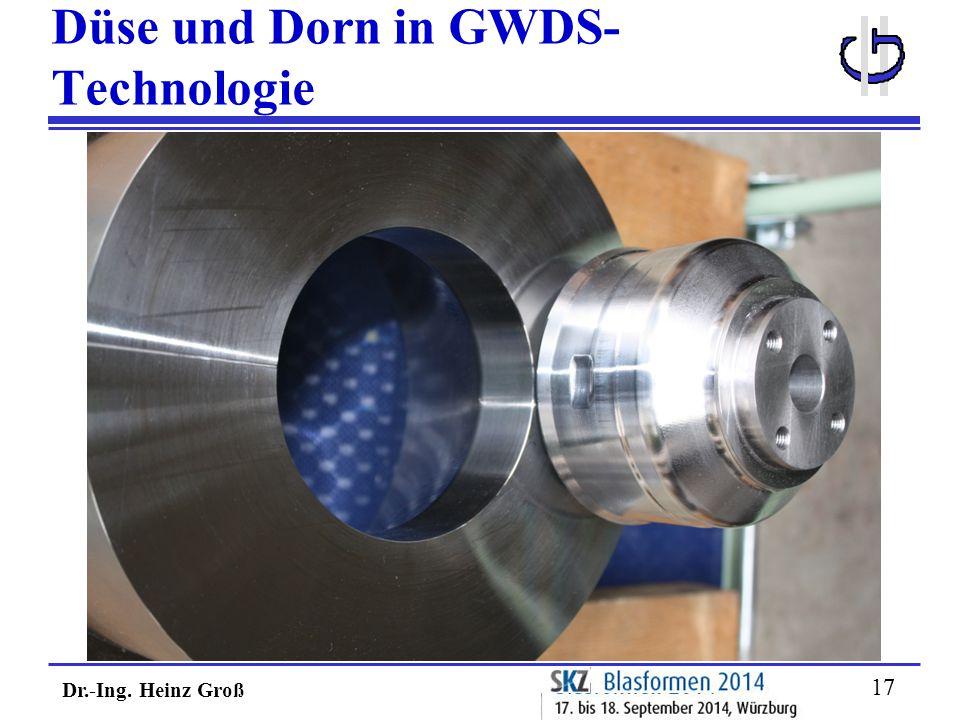 Düse und Dorn in GWDS-Technologie