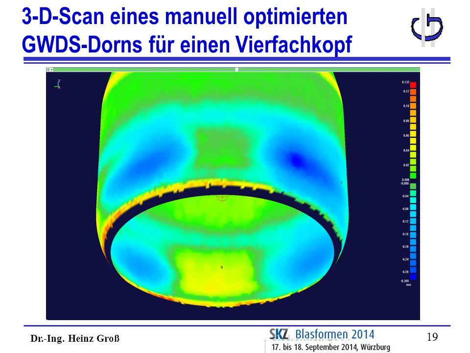3-D-Scan eines manuell optimierten GWDS-Dorns für einen Vierfachkopf