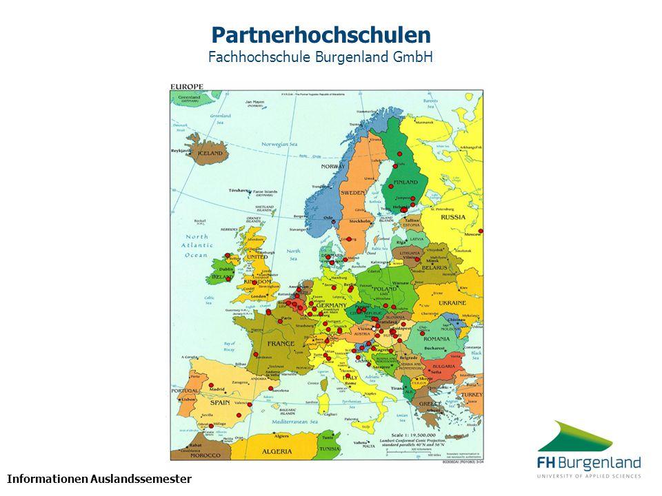 Partnerhochschulen Fachhochschule Burgenland GmbH