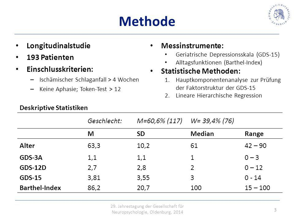 Erhöhte Mortalität Methode Longitudinalstudie 193 Patienten
