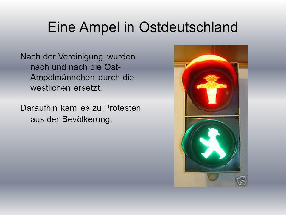 Eine Ampel in Ostdeutschland