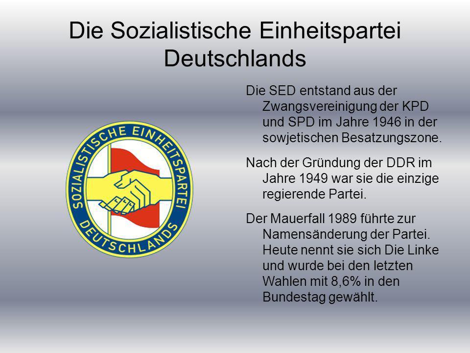 Die Sozialistische Einheitspartei Deutschlands