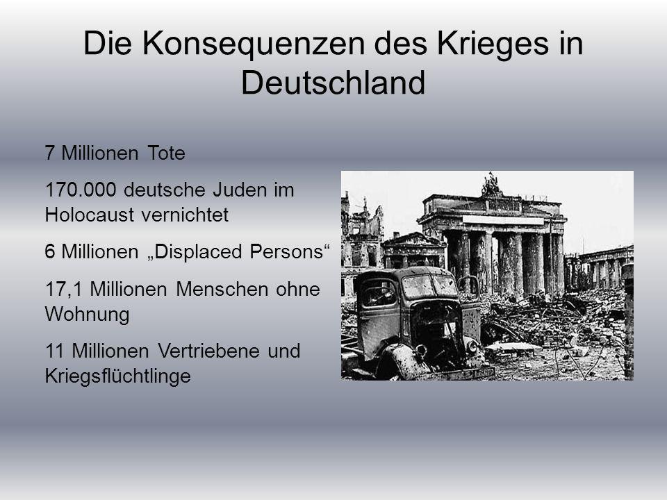 Die Konsequenzen des Krieges in Deutschland