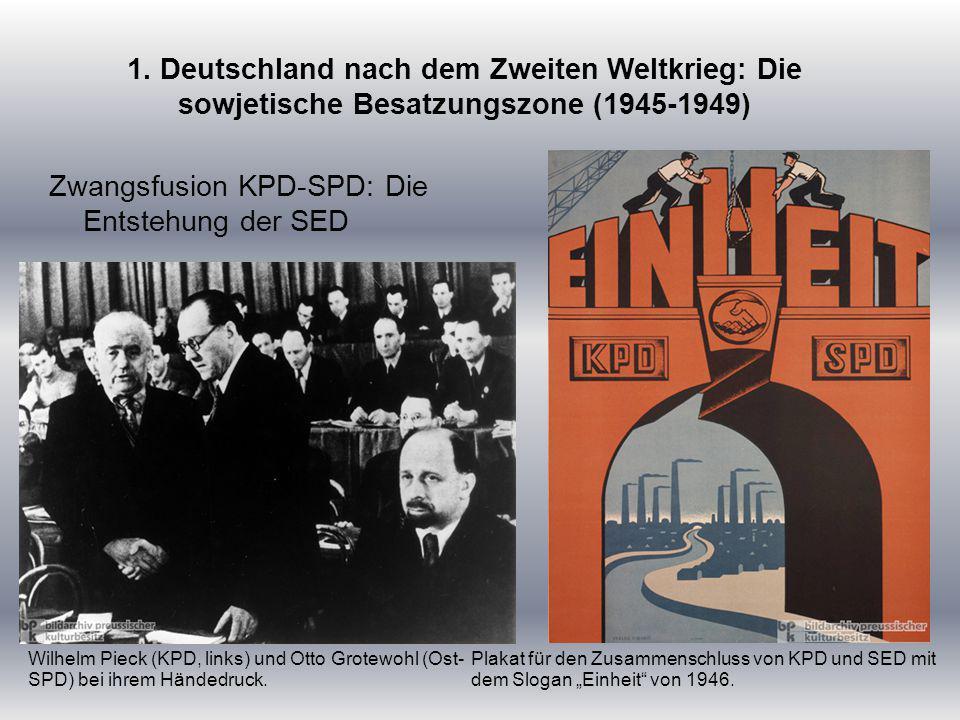 Zwangsfusion KPD-SPD: Die Entstehung der SED