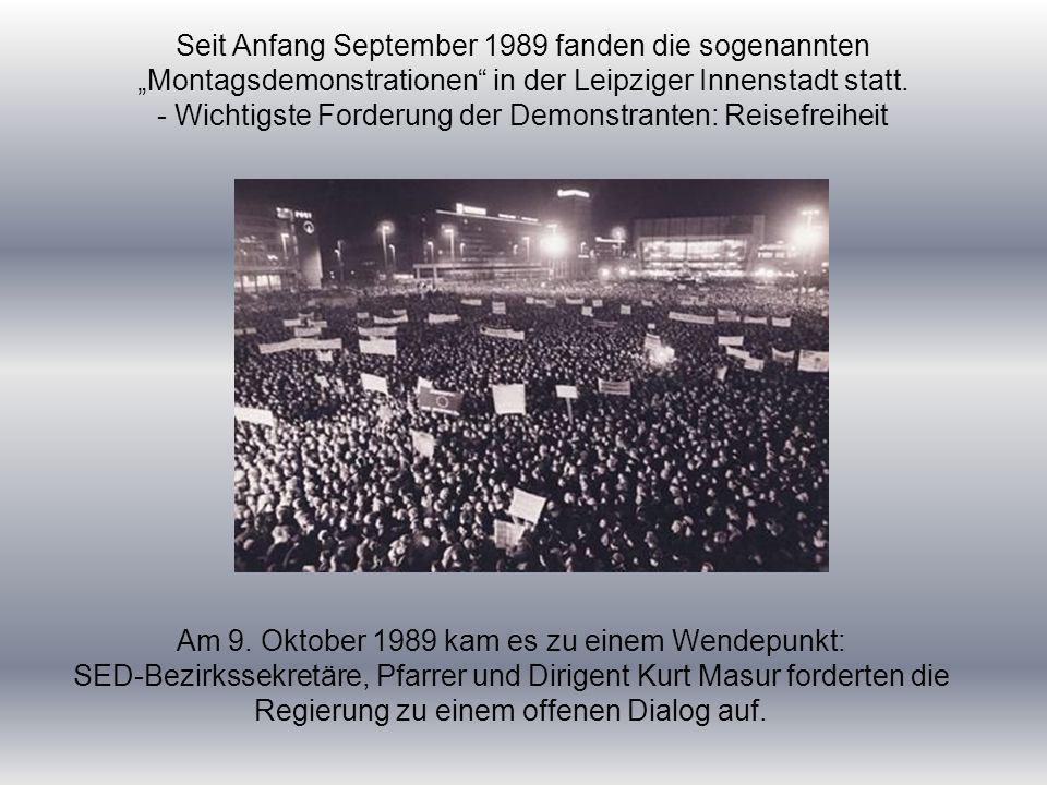 - Wichtigste Forderung der Demonstranten: Reisefreiheit