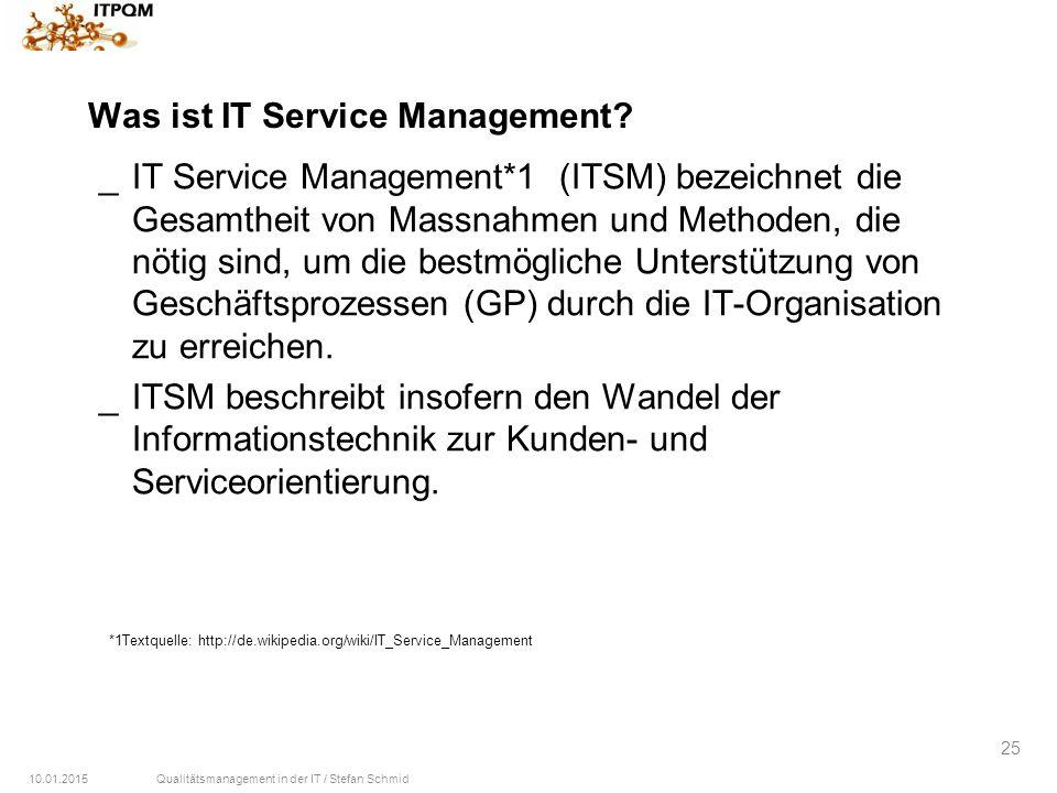 Was ist IT Service Management