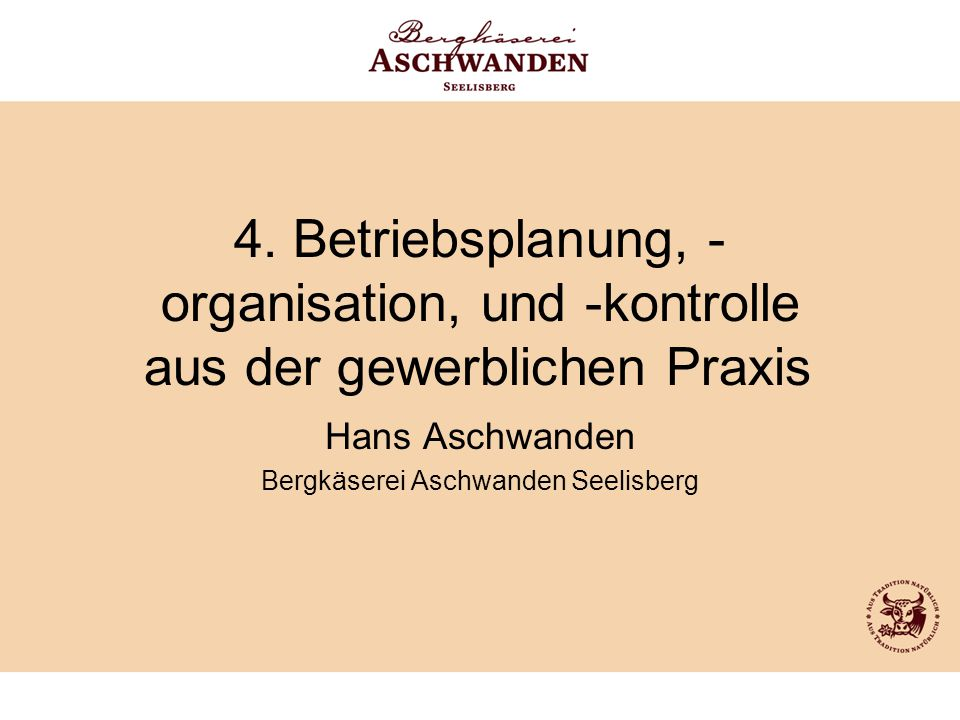 Hans Aschwanden Bergkäserei Aschwanden Seelisberg