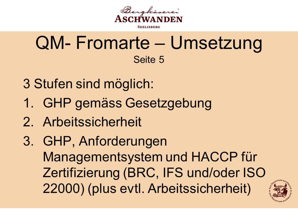 QM- Fromarte – Umsetzung Seite 5