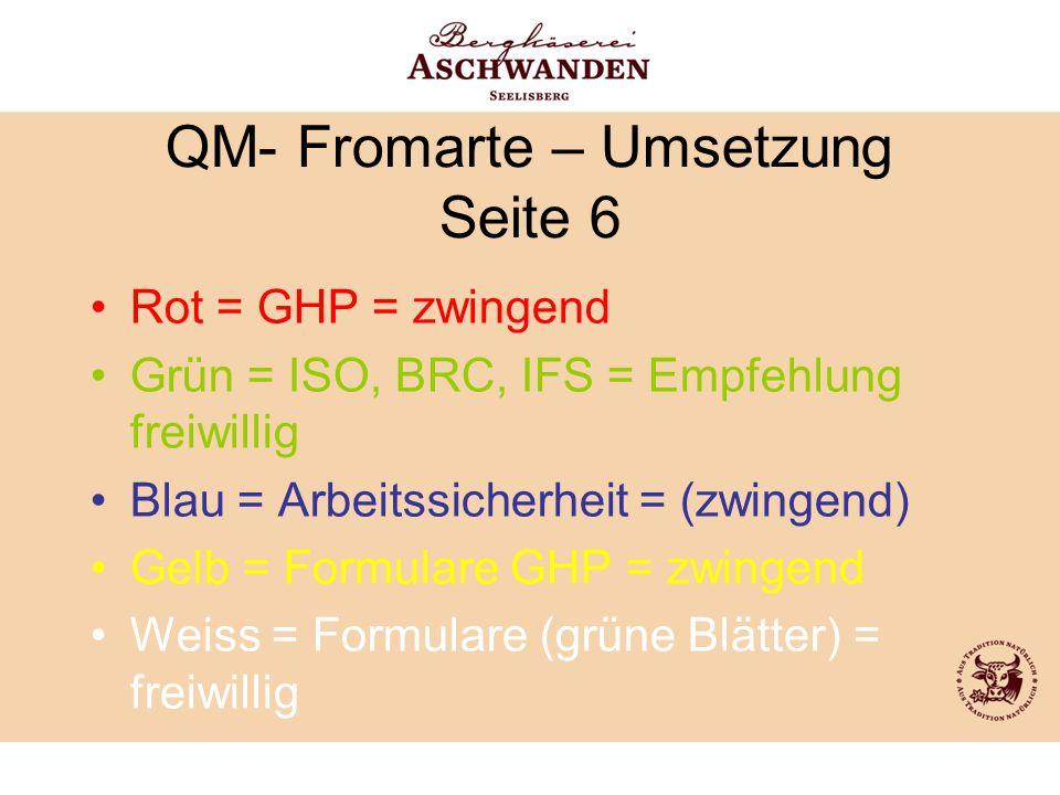 QM- Fromarte – Umsetzung Seite 6