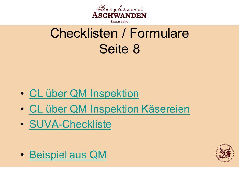 Checklisten / Formulare Seite 8