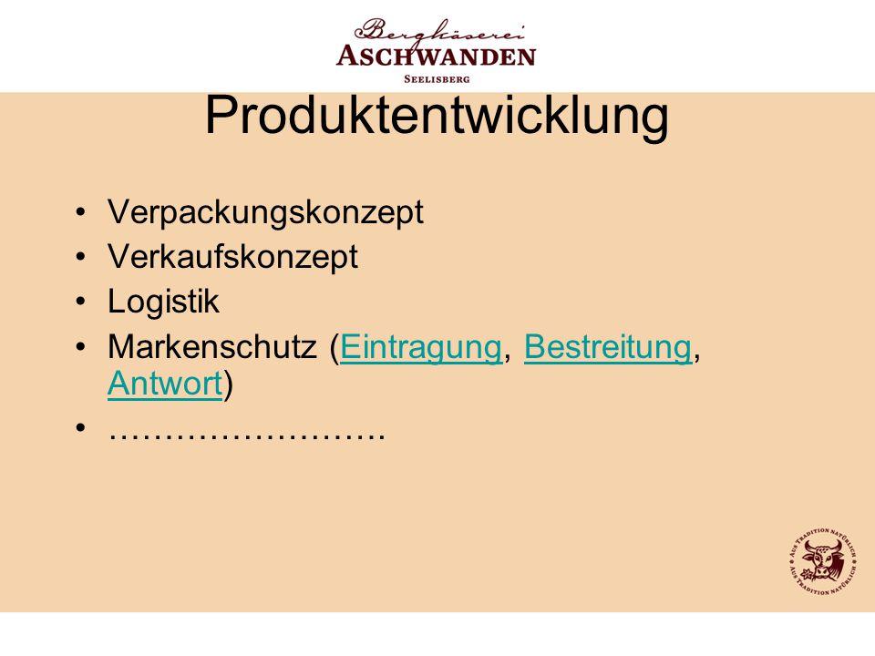 Produktentwicklung Verpackungskonzept Verkaufskonzept Logistik