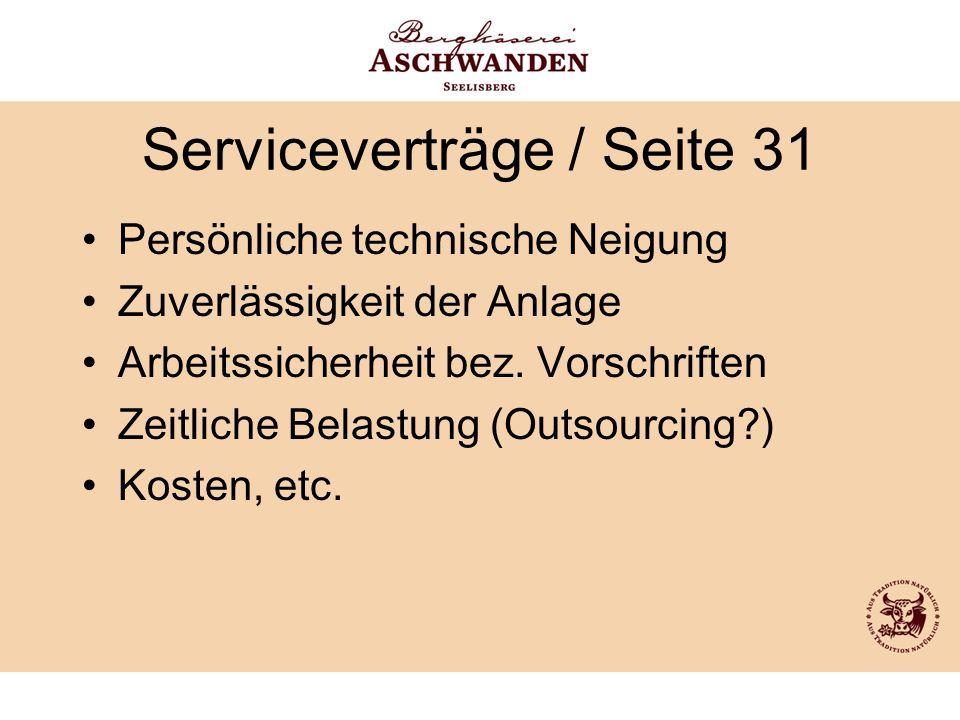 Serviceverträge / Seite 31