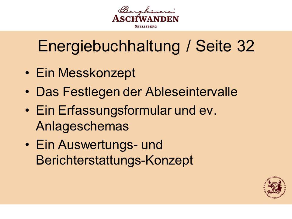 Energiebuchhaltung / Seite 32