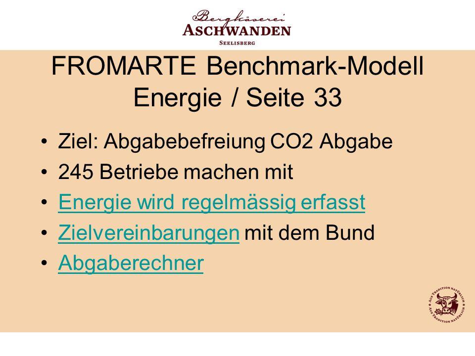 FROMARTE Benchmark-Modell Energie / Seite 33