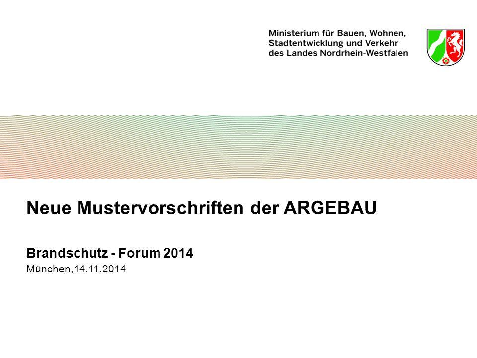 Neue Mustervorschriften der ARGEBAU
