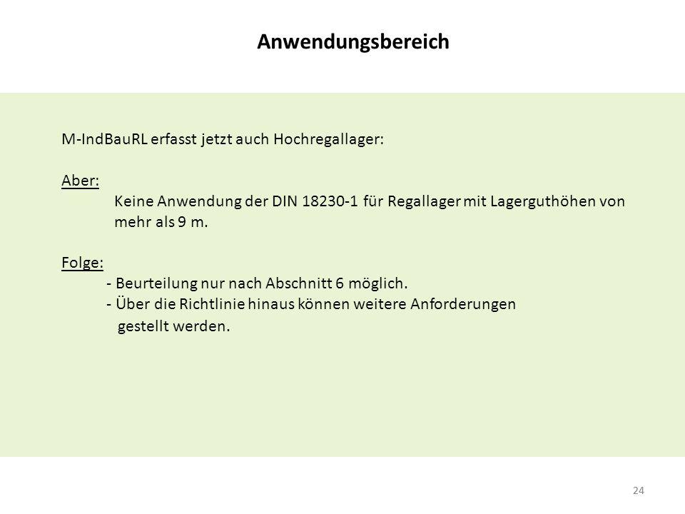 Anwendungsbereich M-IndBauRL erfasst jetzt auch Hochregallager: Aber: