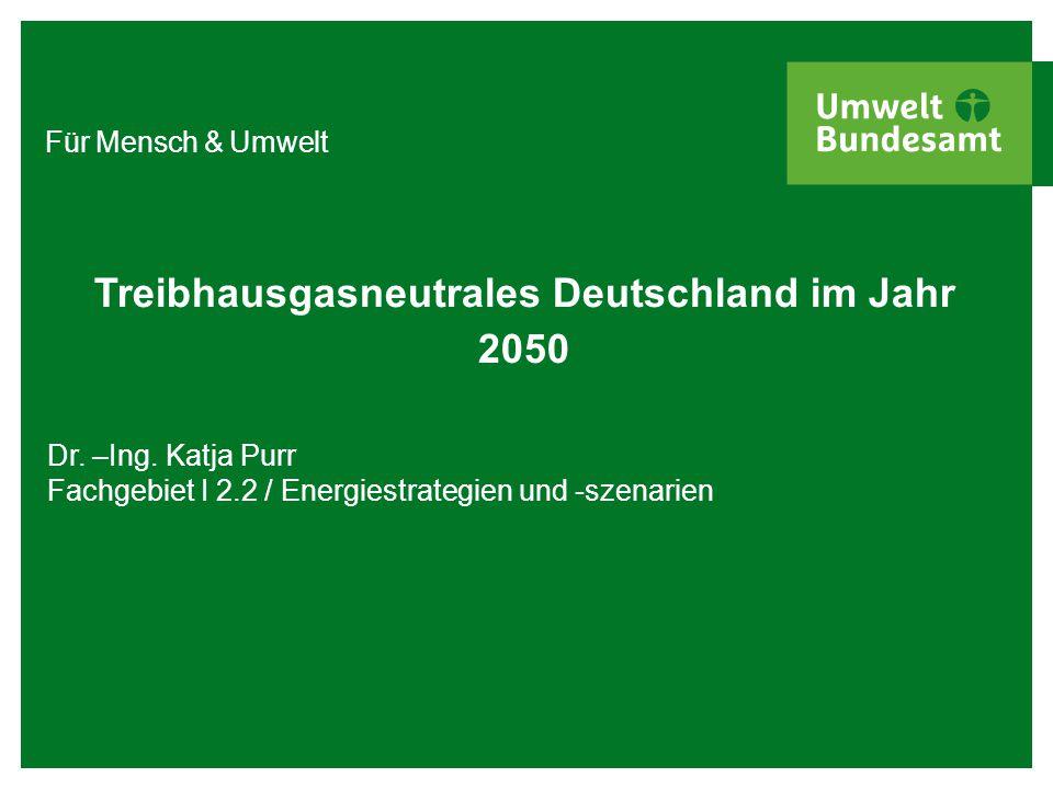 Treibhausgasneutrales Deutschland im Jahr 2050