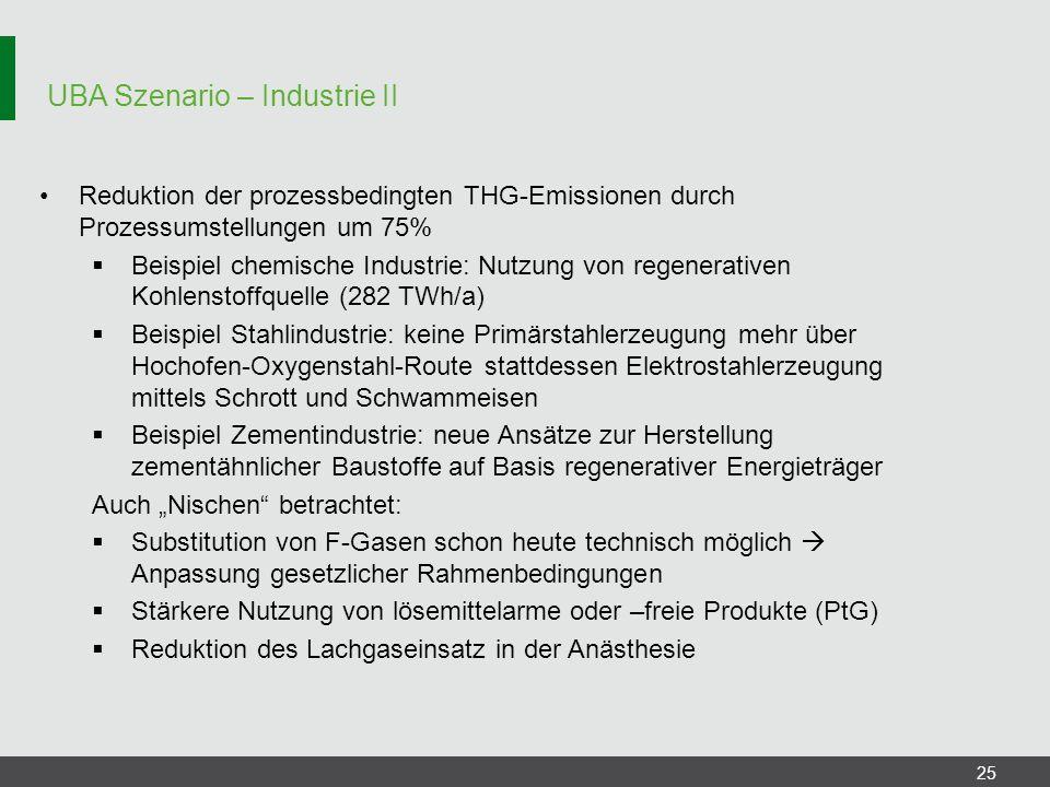 UBA Szenario – Industrie II