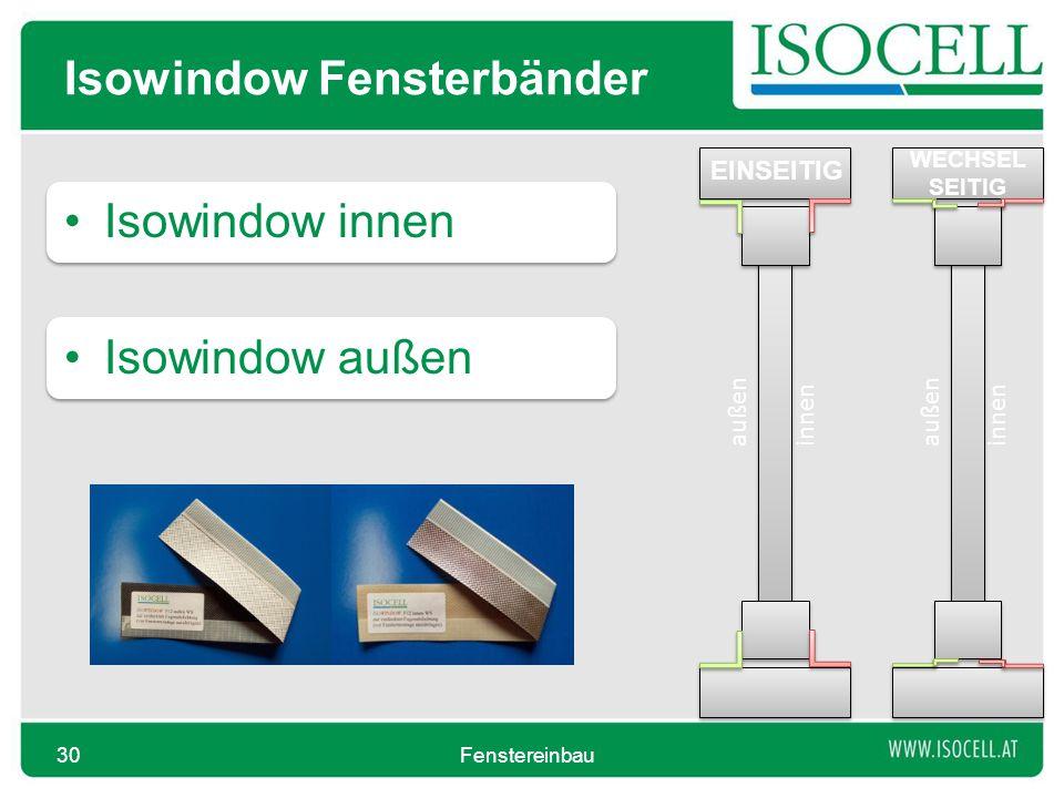 Isowindow Fensterbänder