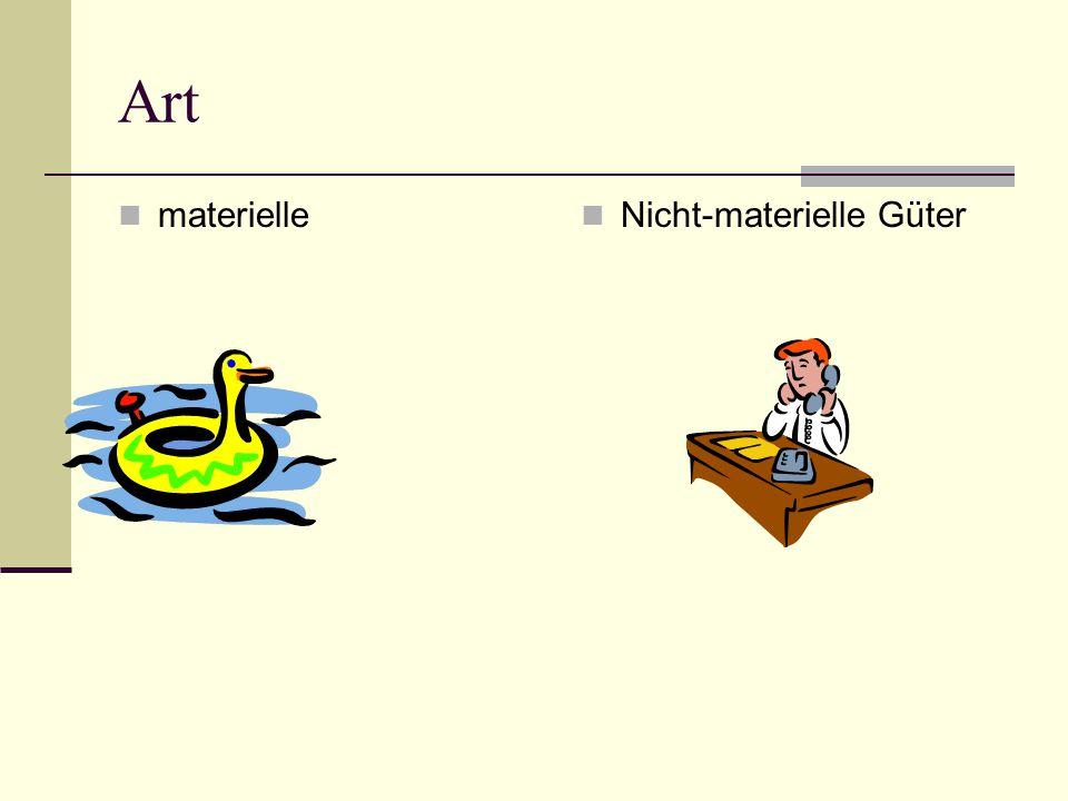 Art materielle Nicht-materielle Güter