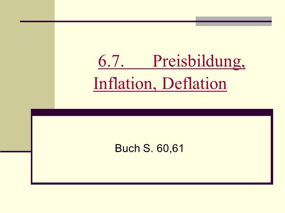 6.7. Preisbildung, Inflation, Deflation