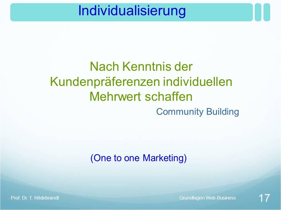 Nach Kenntnis der Kundenpräferenzen individuellen Mehrwert schaffen