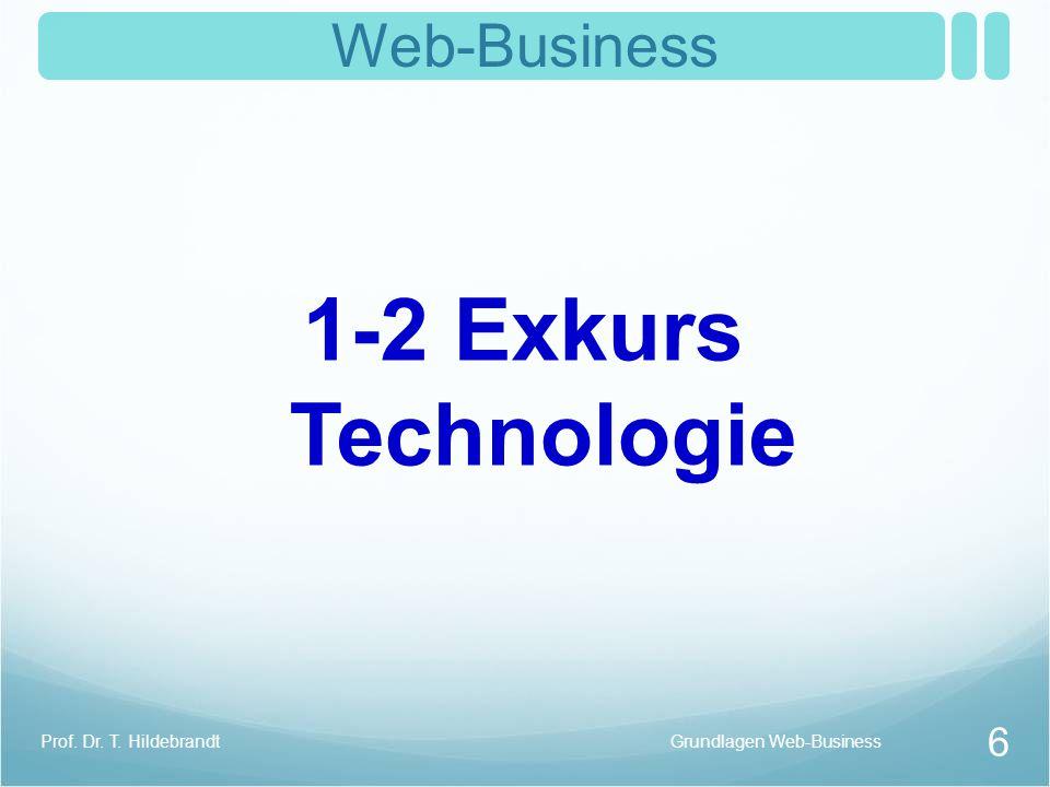 1-2 Exkurs Technologie Web-Business Prof. Dr. T. Hildebrandt