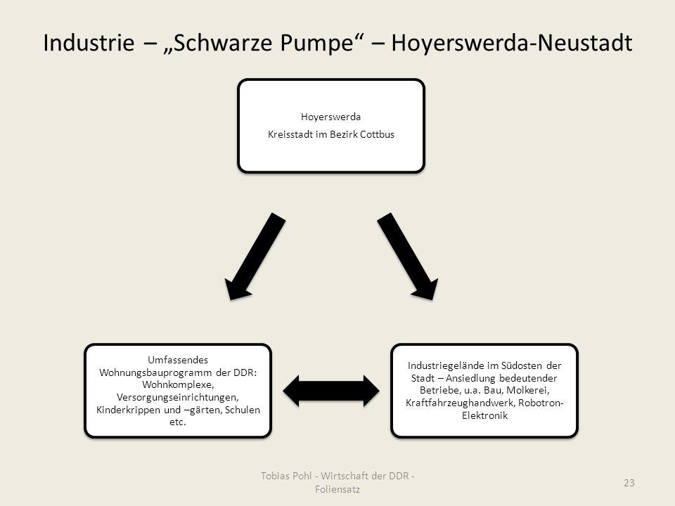 """Industrie – """"Schwarze Pumpe – Hoyerswerda-Neustadt"""