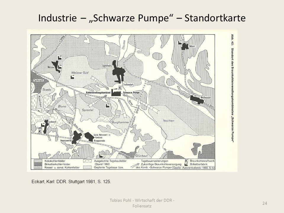 """Industrie – """"Schwarze Pumpe – Standortkarte"""