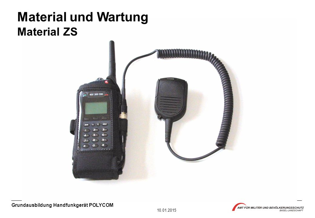 Material und Wartung Material ZS