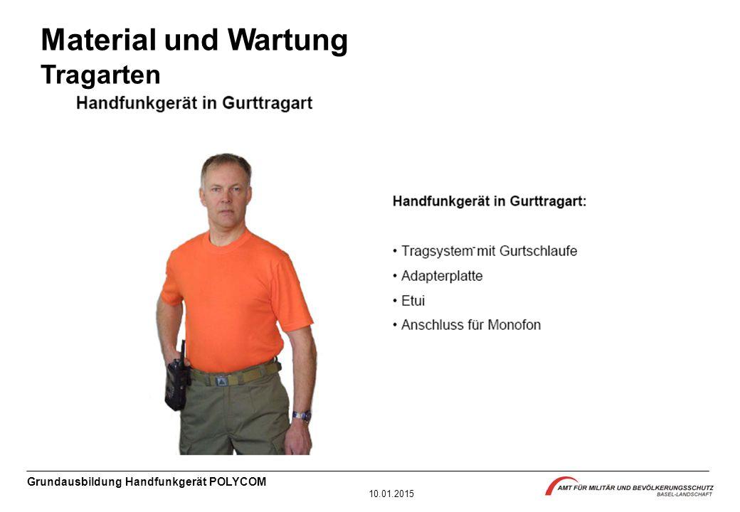 Material und Wartung Tragarten