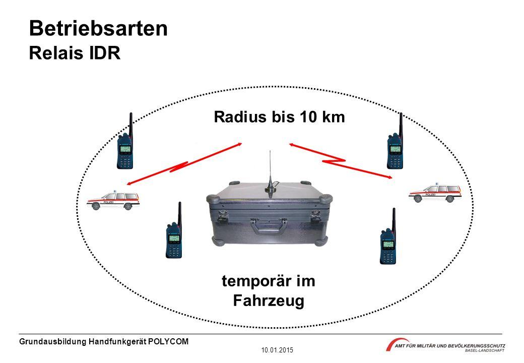Betriebsarten Relais IDR