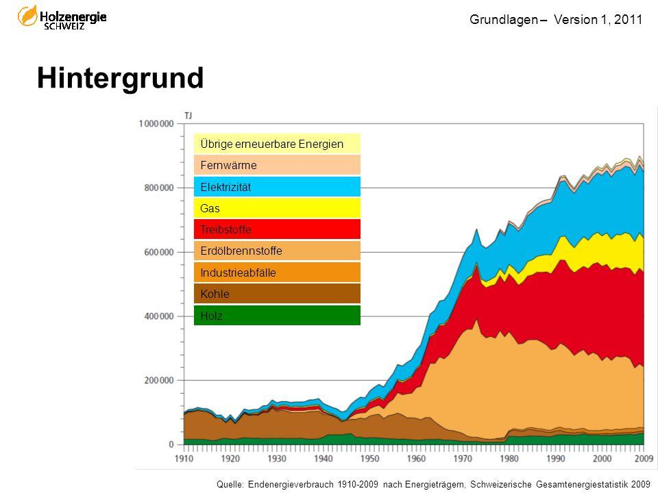 Hintergrund Übrige erneuerbare Energien Fernwärme Elektrizität Gas