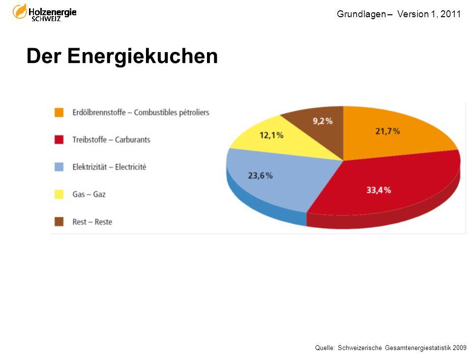 Der Energiekuchen Quelle: Schweizerische Gesamtenergiestatistik 2009