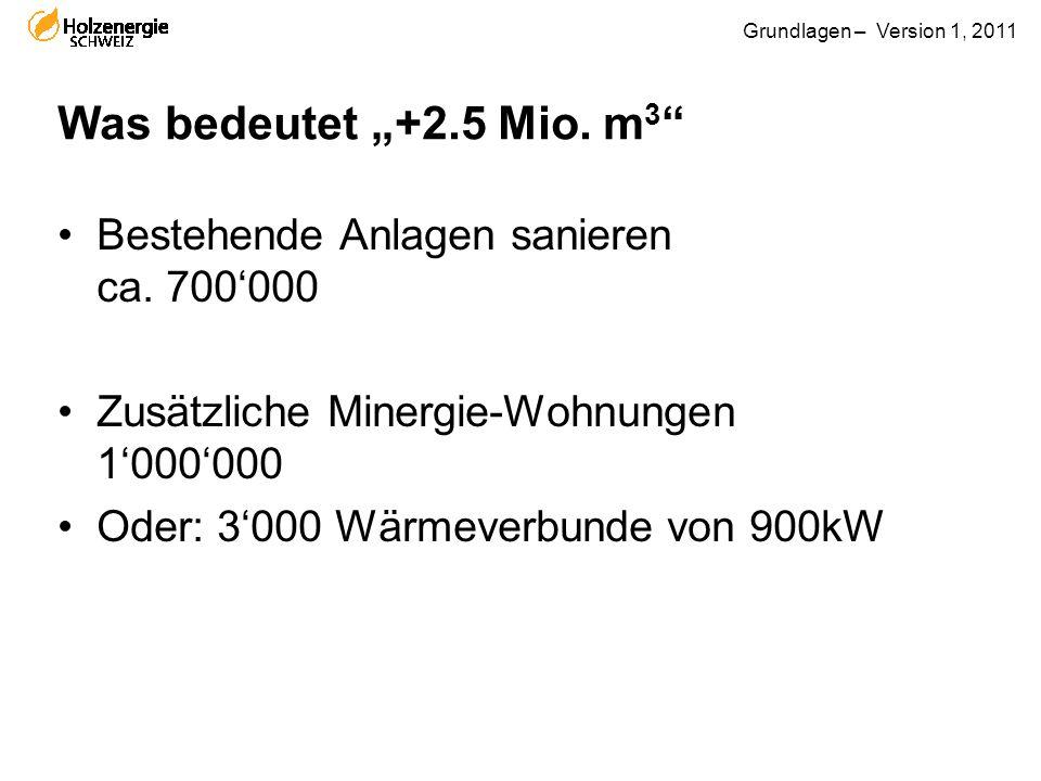 """Was bedeutet """"+2.5 Mio. m3 Bestehende Anlagen sanieren ca. 700'000"""