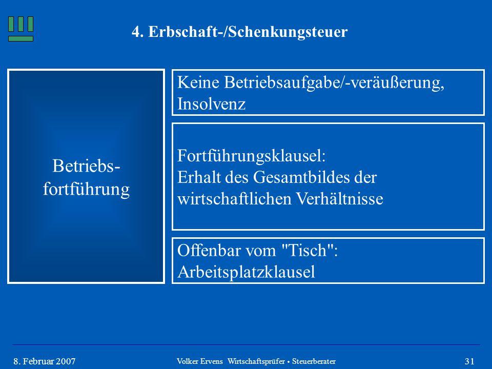 4. Erbschaft-/Schenkungsteuer