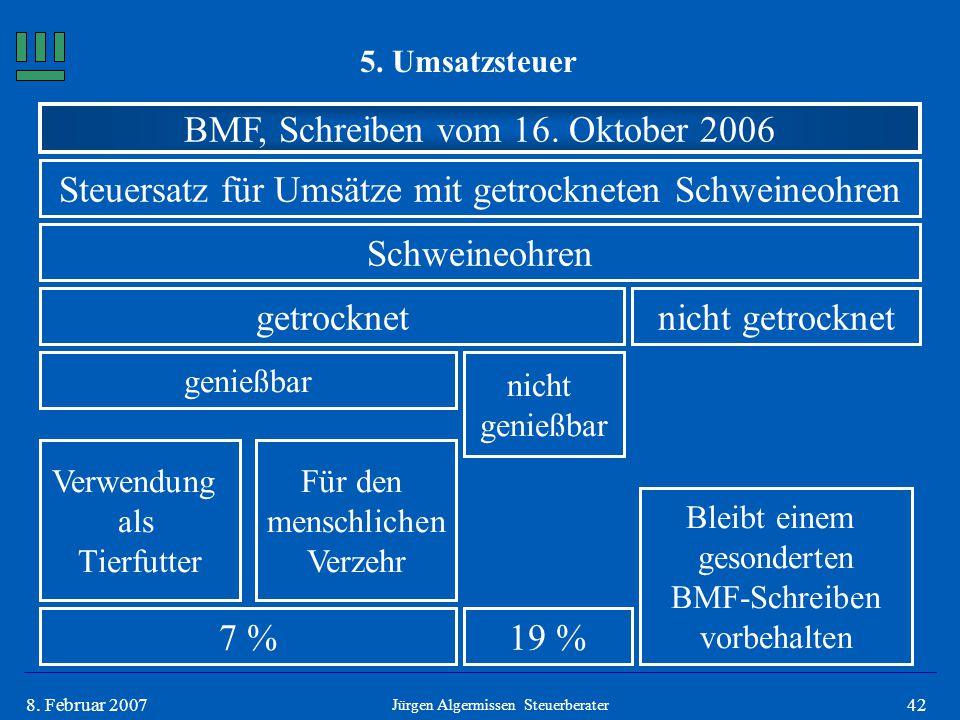 BMF, Schreiben vom 16. Oktober 2006