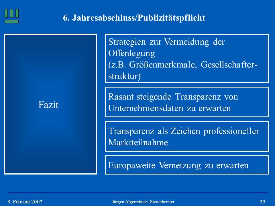 6. Jahresabschluss/Publizitätspflicht