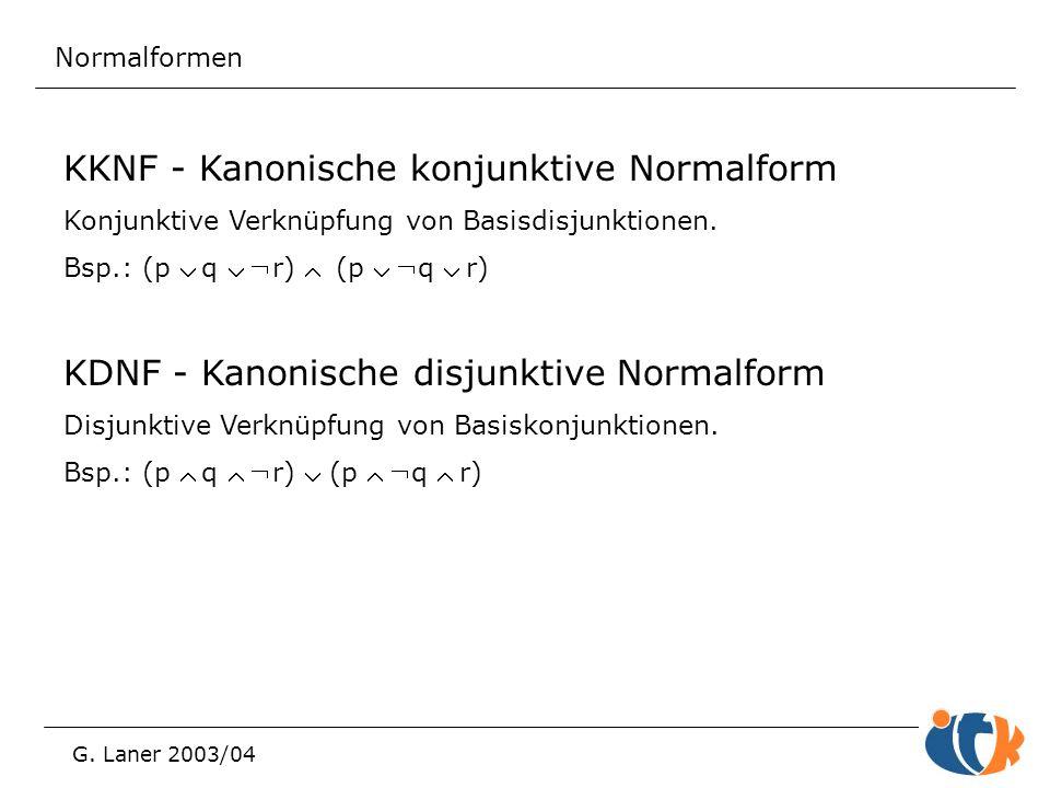 KKNF - Kanonische konjunktive Normalform