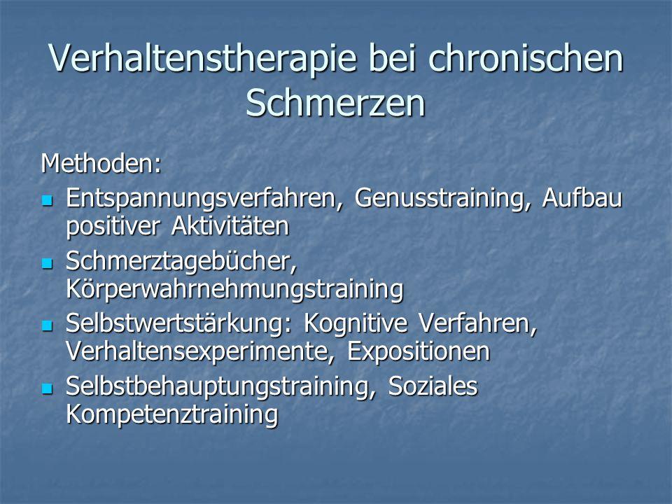 Verhaltenstherapie bei chronischen Schmerzen
