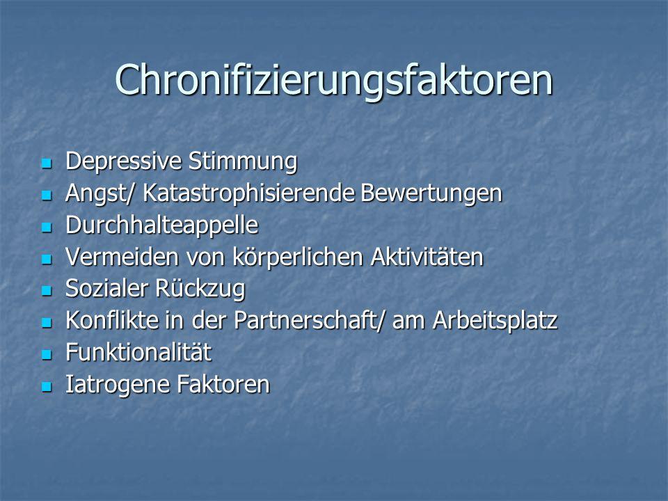 Chronifizierungsfaktoren