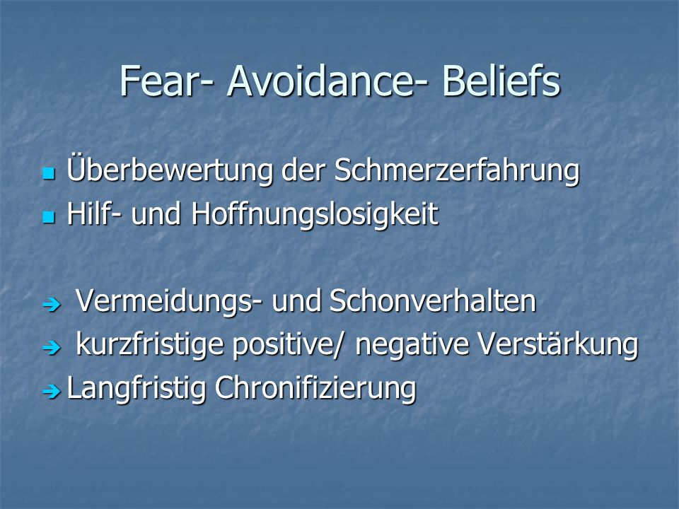 Fear- Avoidance- Beliefs