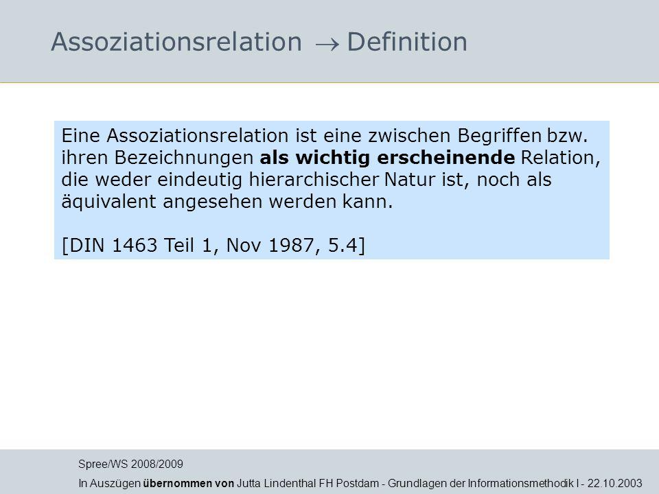 Assoziationsrelation  Definition