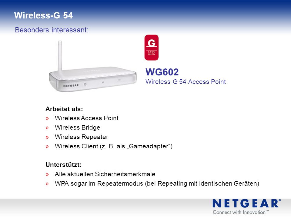 WG602 Wireless-G 54 Access Point